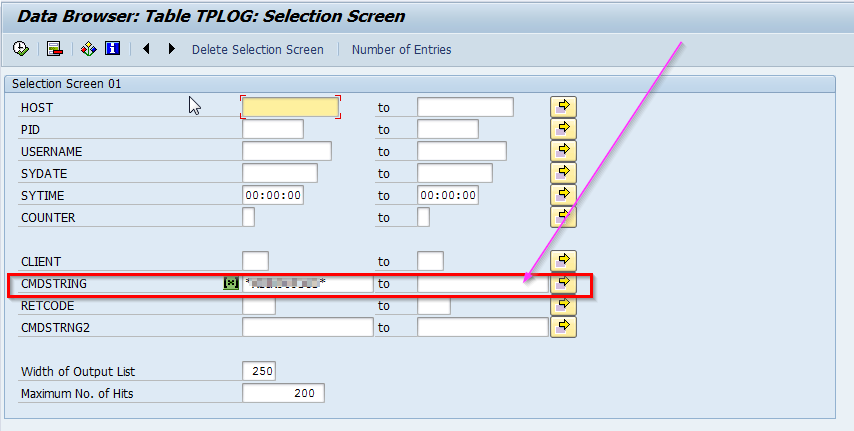 2014-06-11 13_04_33-Data Browser_ Table TPLOG_ Selection Screen